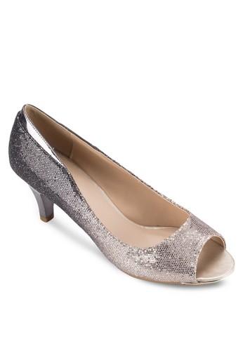 漸層雙色露趾高跟鞋,esprit hong kong 女鞋, 鞋