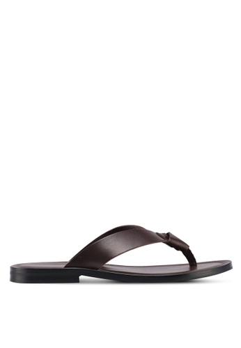 KG Kurt Geiger brown Thar Leather Slippers B77DCSH57F51EEGS_1