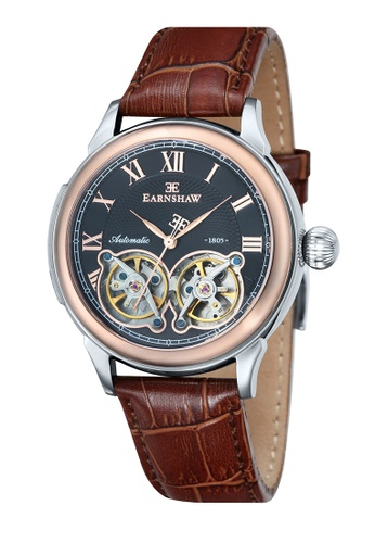 Thomas Earnshaw brown Thomas Earnshaw OBSERVATORY ES-8030-04 Men's Brown Genuine Leather Strap Watch 1AD06ACE532989GS_1