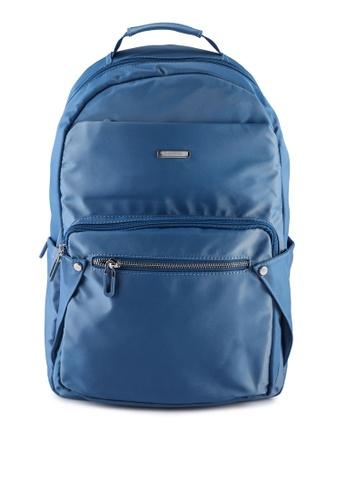 NUVEAU blue Lightweight Nylon Backpack B41BEAC259B7F2GS_1