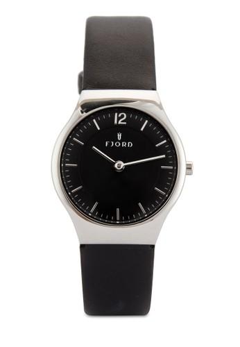 EDLA 雙指針皮革錶, 錶類, 飾品esprit sg配件