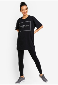 check out 00e3b fca49 5% OFF Running Bare Two Tribes 90 s Relax Tee S  61.90 NOW S  58.90 Sizes 8  10 12 14