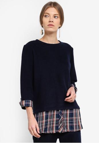 ESPRIT navy Long Sleeve Sweatshirt FEA07AA070FA6CGS_1