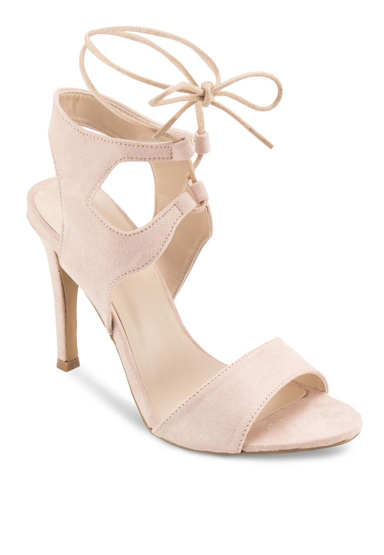 Cut Out Laced Sandal Heels