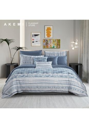 AKEMI blue AKEMI Cotton Select Adore - Nariccus (Quilt Cover Set). CEE03HLDDECC22GS_1