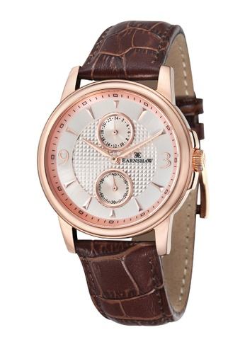 Thomas Earnshaw brown Thomas Earnshaw FLINDERS MULTIFUNCTION ES-8026-03 Men's Brown Genuine Leather Strap Watch C46F2AC8AF3CF9GS_1