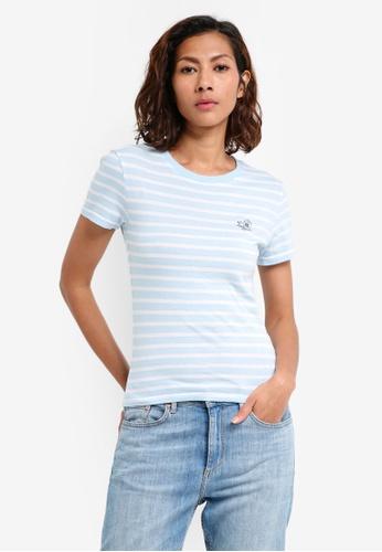 Jack Wills blue Matlock Stripe Ringer T-shirt 67F97AA29349CAGS_1