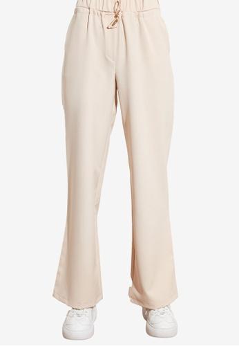 Trendyol beige High Waist Trousers 8B851AAC6017ADGS_1