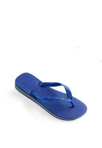 Havaianas blue Brasil Flip Flops 7F3D1SH2EE3F8BGS_1