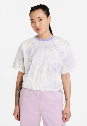 Nike purple Women's Icon Clash Short-Sleeves Mesh Tee 3C406AADD679FBGS_1