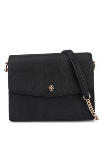 TORY BURCH black Emerson Envelope Adjustable Shoulder Bag (NT) C62DDAC196D446GS_1