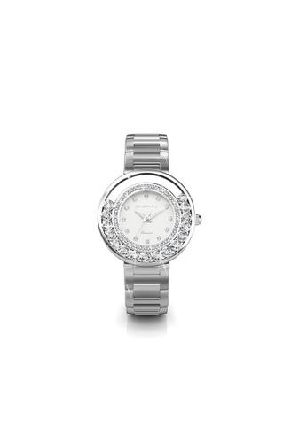 Her Jewellery white Swarovski® Crystals -Glamour Watch (White) (18K White Gold Plated) Her Jewellery HE581AC0RDP6MY_1