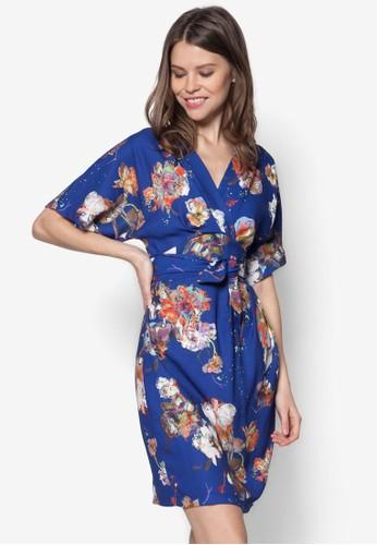 花卉裹式繫帶連身裙, esprit 包服飾, 夏日洋裝