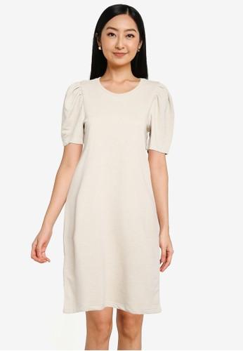 ONLY beige Dianna O-neck Dress FB7DEAAF6B82F2GS_1