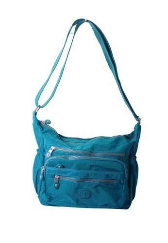 G.DAVIN blue G.Davin Nylon Crossbody bag 86B6DAC18D7CB5GS_1