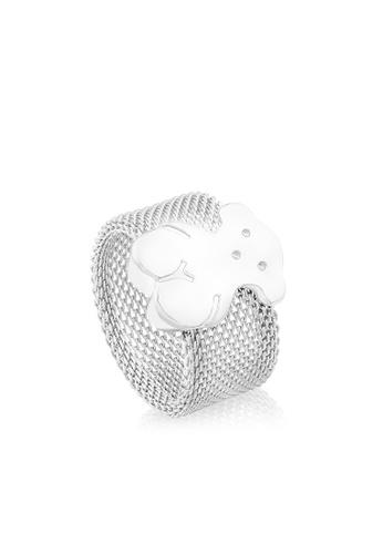 Tous silver TOUS Silver Mesh Ring D8233AC7484095GS_1