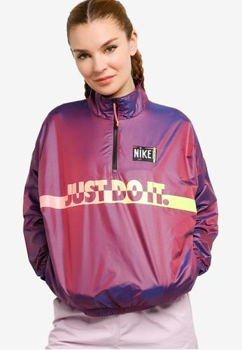 Nike pink and multi Sportswear Women's Woven Jacket 5F75CAA95D6B37GS_1