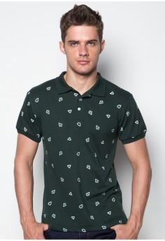 S/S M W/ Diamond Pattern Polo Tee