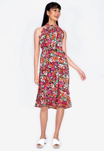 ZALORA BASICS multi Ruffle Detail Tiered Dress F05E0AA1CC677CGS_1
