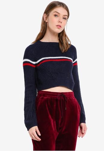 Supre navy The Harper Knit Sweater 1D5EEAA77269DAGS_1