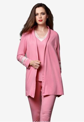 三件式長袍睡衣套裝, zalora 包包評價服飾, 睡衣套裝