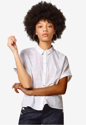 ESPRIT white Woven Short Sleeve Shirt 1CBADAA3CB9D7CGS_1