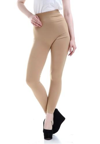 Evernoon n/a Willow Celana Legging Wanita Design Simple Fashionable Woman Motif Solid - Khaki 61053AACFF9250GS_1
