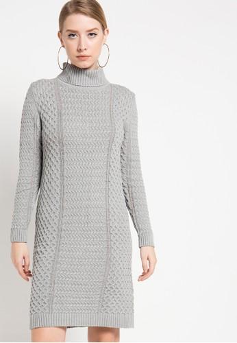 COME grey Joana Cable Knit Dress CO779AA87HZGID_1