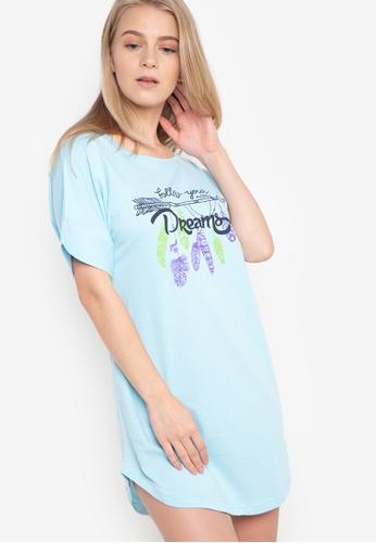 Verve Street blue Kar Sleep Shirt VE915AA56CKLPH_1