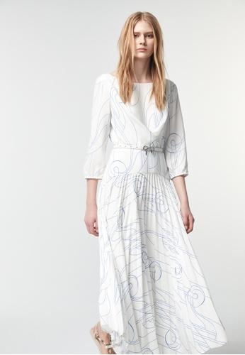 iROO multi Printed Long Dress D8B8DAA4ADEC05GS_1