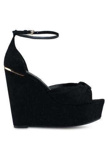 Miss KG black Felicity Black Suedette Wedges 85ED3SH1635733GS_1