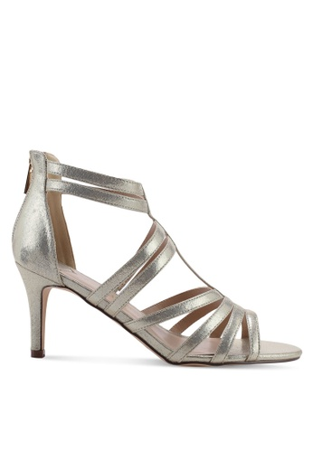 Dorothy Perkins gold Wide Fit Gold Textured Sara Heeled Sandals 1509FSH06EE8D8GS_1
