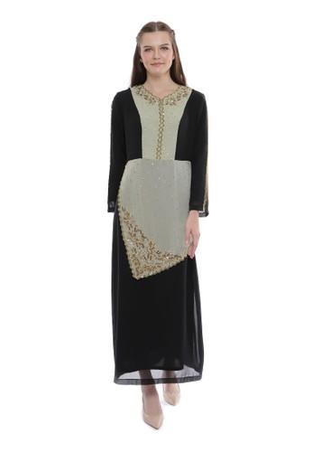 """Devain Kapoor black and multi """"Afreen"""" Gown E4D15AA5048DE5GS_1"""