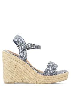 Regal 麻編厚底楔型跟涼鞋