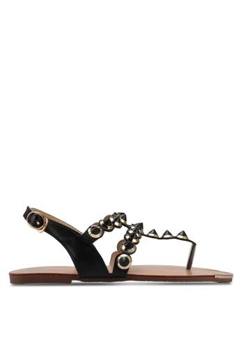 Mimosa black Metallic Stud Sandals E5930SH162D642GS_1