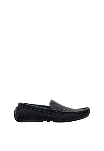 SEMBONIA black Men Synthetic Leather Loafer C7AABSH9A0E0A9GS_1