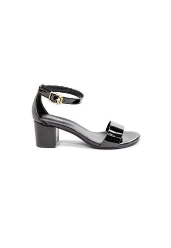 prettyFIT black Minimalistic Black Patent Mid Heeled Sandals HQ-1781A D0CDASH1BE375CGS_1