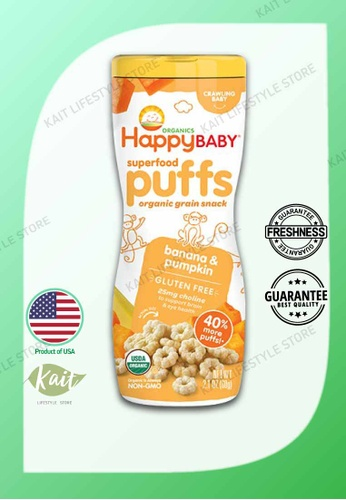 Kait Lifestyle HAPPYBABY Organic Superfood Puffs - Banana & Pumpkin E34EEESD1B1CA0GS_1