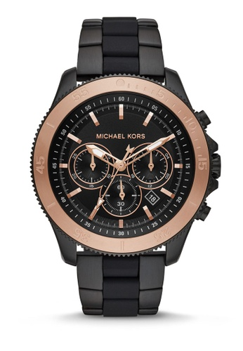 MICHAEL KORS black Theroux Chronograph Watch MK8666 A4E54ACE0F23DBGS_1