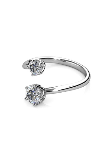 Her Jewellery white Her Jewellery Birth Stone Ring (April) - Embellished with Crystals from Swarovski® 937DBAC43AE2EAGS_1