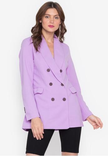 Lady N purple George Blazer D1D58AAF562C72GS_1