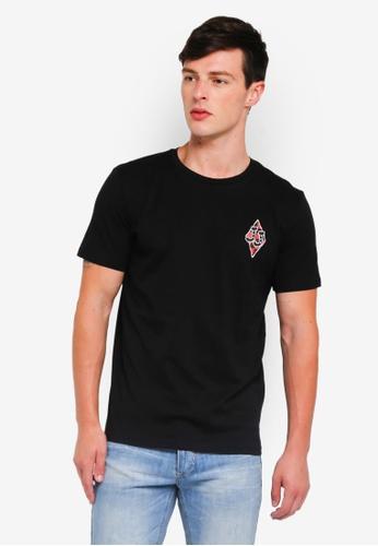 Jack & Jones 黑色 格紋短袖T恤 70C28AA9E6FFADGS_1