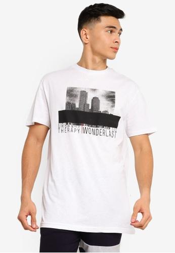 Trendyol white White Skyline Printed T-Shirt FFCD6AA03D2F23GS_1