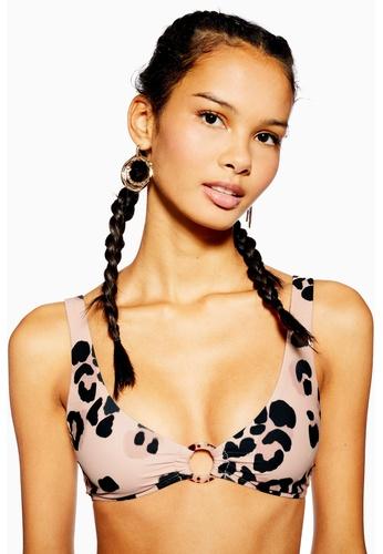 d8542fb1d2ead Shop TOPSHOP Animal Ring Crop Bikini Top Online on ZALORA Philippines