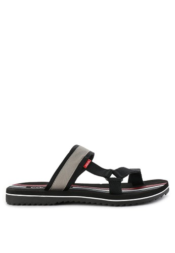 CARVIL black and multi Sandal Sponge Man Modric D133BSH154F5DEGS_1