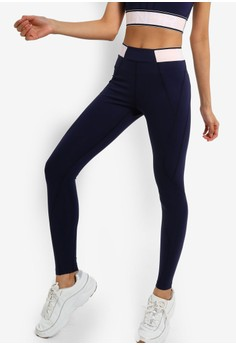 7ec030a1cb LNDR navy Marvel Elasticated Waist 8 8 Leggings 606BEAAAC7E782GS 1