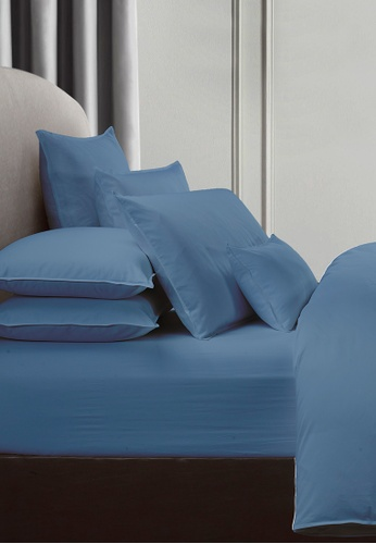 Grand Atelier blue Wedgewood 1000TC 100% Egyptian Cotton Sateen Bolstercase 1pcs (Suite Essentials Collection) ADCE1HL3985D2AGS_1