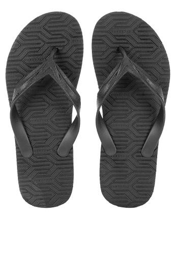 Krooberg black Cali 3 Flip Flops 8935BSH0D4B4C4GS_1