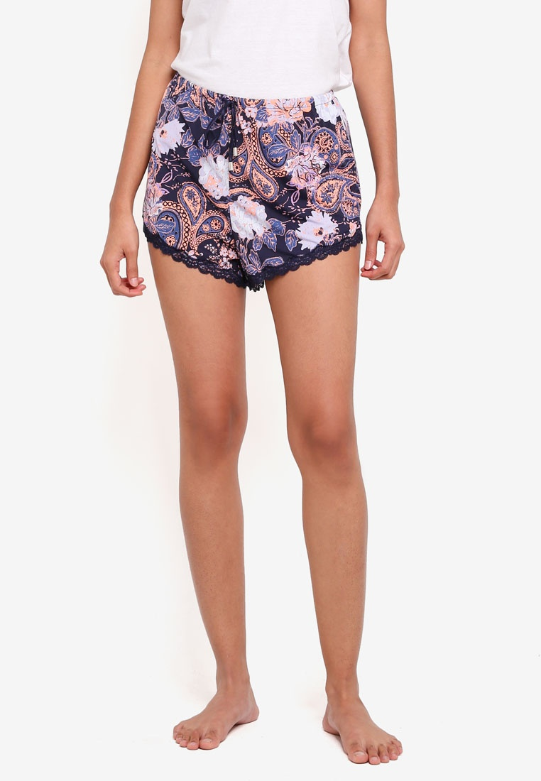 Love Adorned Midnight Body Shorts On Paisley Cotton qgC1ZZ