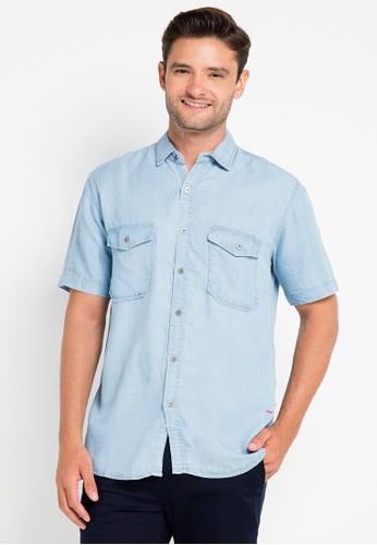 EDWIN blue Original Denim Shirt 205-11 ED179AA0URICID_1